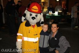 Sparky and OVFD member Mackenzi saying hello