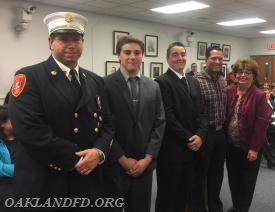 Assistant Chief Vincent Dies with Grady Dies, Gary Greulich, Carlos Henriques and Mayor Schwager