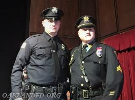 Officer Charles Kelly with his brother Detective George Kelly