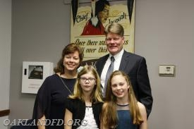 Councilman Kulmala with his wife Brenda and their two daughters