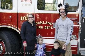 Fireman Dan Binder and his family enjoy the days events.
