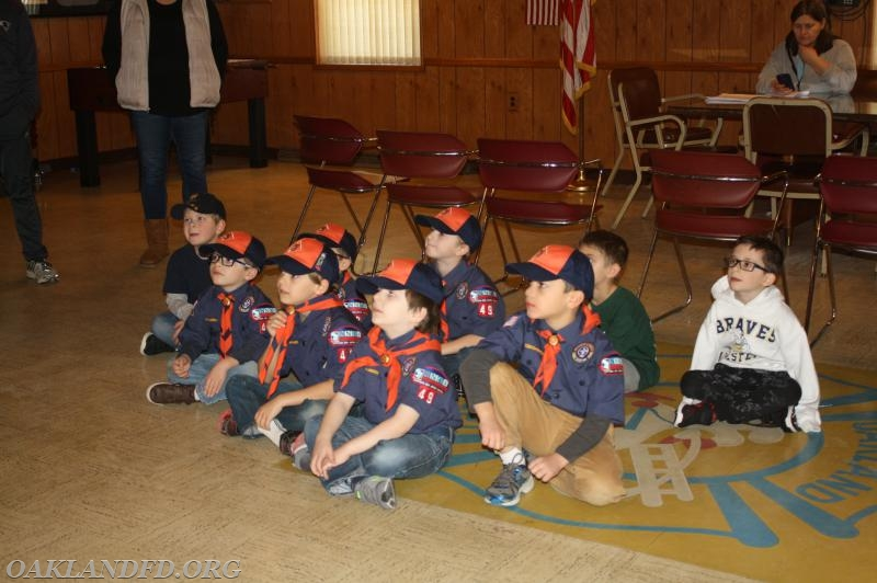 Tiger Cubs listed to fire safety tips