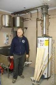 Firefighter Ledd Dodd quizzes the Tigers on why this is not a good thing to do by your water heater